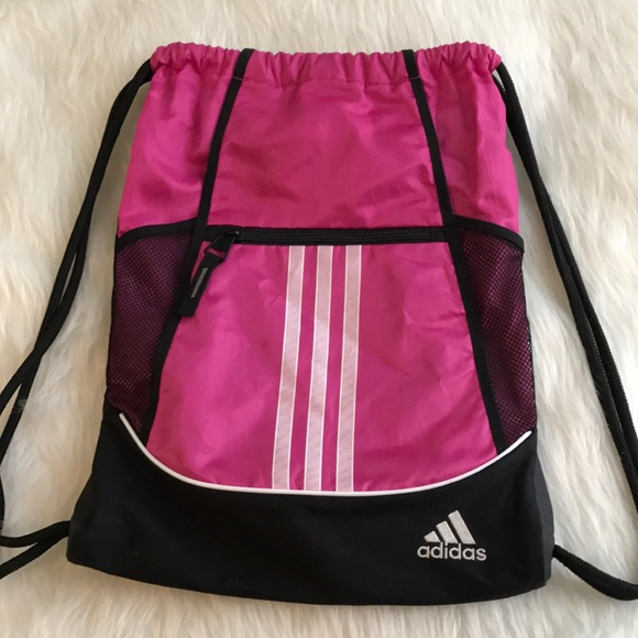 6f55731d23 adidas Handbags - ADIDAS pink Black drawstring bag backpack